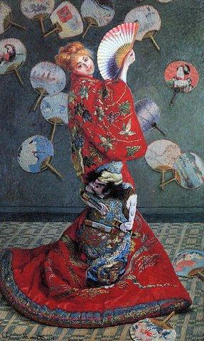 Monet a peint son épouse vêtue d'un kimono