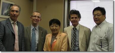 Avec la sénatrice Chiba Keiko