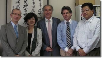 Avec la sénatrice Madoka Yoriko